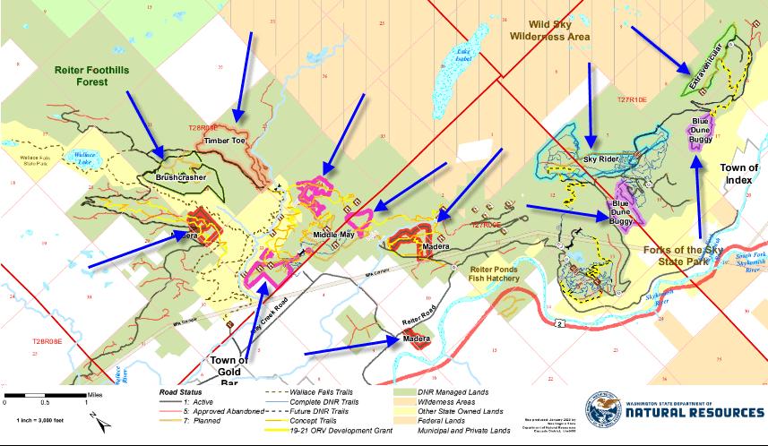 Map of Reiter Foothills logging plan