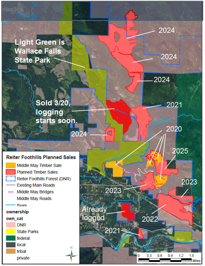 map of logging in reiter foothills 2020 to 2025