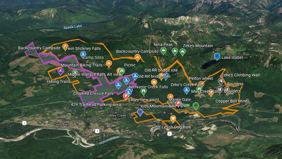 Map of proposed Wild Wallace County Park