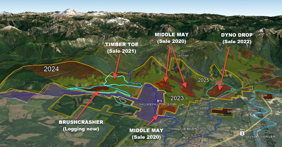 DNR logging plan for Reiter Foothills Middle May