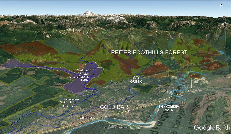 Map of DNR logging management plan for Reiter Foothills